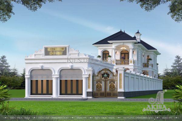 Mẫu nhà đẹp 2 tầng tân cổ điển mặt tiền 10m (CĐT: ông Tường - Gia Lai) BT22490