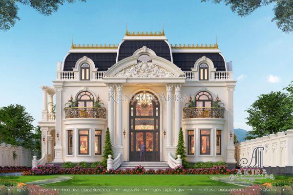 Mẫu biệt thự 2 tầng tân cổ điển kiểu Pháp đẹp đẳng cấp (CĐT: ông Hiệp - Bình Dương) BT22492