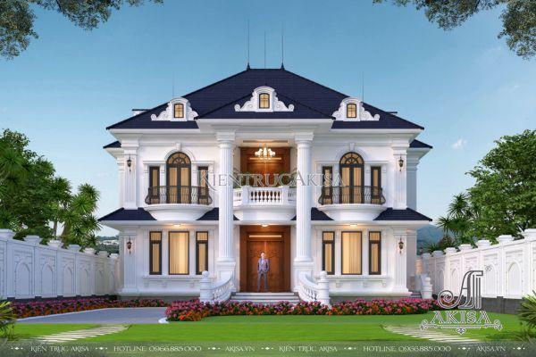 Thiết kế biệt thự 2 tầng Tân cổ điển 5 phòng ngủ (CĐT: ông Minh - Quảng Trị) BT22494
