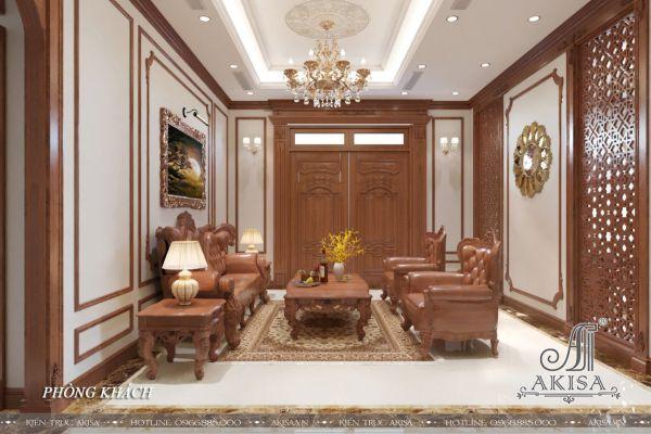 Nội thất gỗ Tân cổ điển đẹp sang trọng (CĐT: ông Thanh - Phú Thọ) NT12468