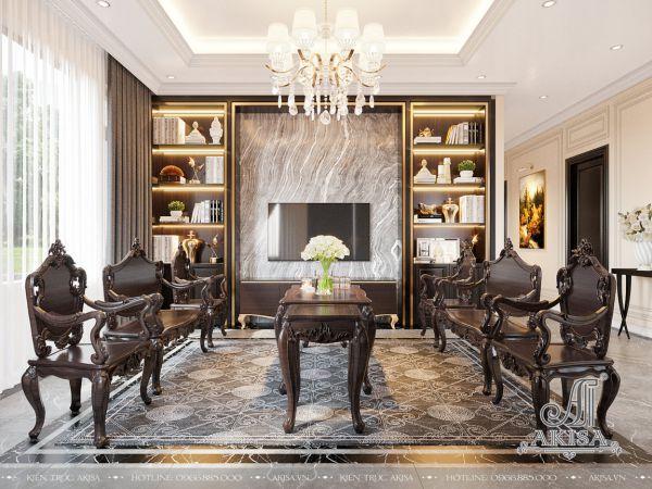 Thiết kế phong cách nội thất tân cổ điển (CĐT: ông Nam - Hải Phòng) NT12464