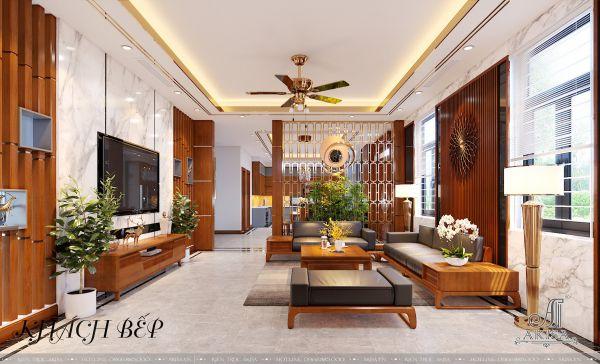 Thiết kế nội thất phong cách hiện đại (CĐT: ông Tín - Ninh Thuận) NT22449