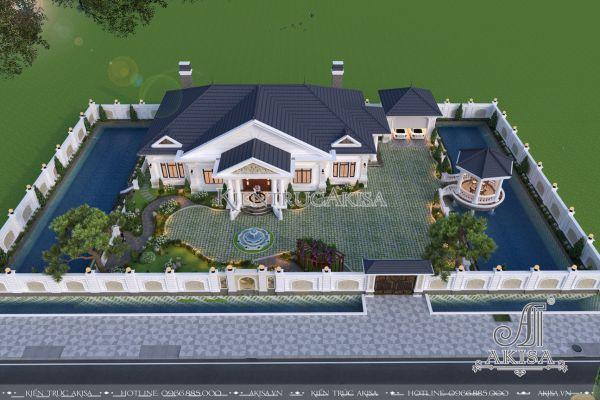 Thiết kế cảnh quan sân vườn biệt thự 1 tầng (CĐT: ông Vũ - Hưng Yên) SV12341