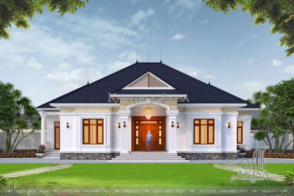 Biệt thự nhà vườn 1 tầng 4 phòng ngủ sang trọng (CĐT: ông Út - Vĩnh Phúc) BT12498