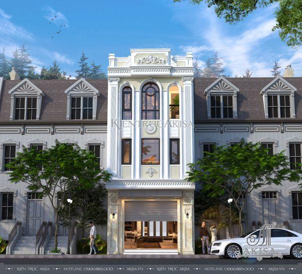 Mẫu nhà 3 tầng mặt tiền 5m (CĐT: ông Dũng - Hòa Bình) KT32499