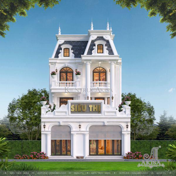 Biệt thự phố kết hợp kinh doanh 2 mặt tiền phong cách tân cổ điển (CĐT: ông Nam - Thạch Thất) BT32500