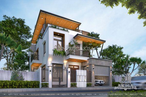 Mẫu nhà biệt thự hiện đại 3 tầng đẹp (CĐT: bà Thu - Hà Nam) BT31501