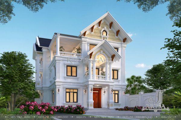 Mẫu nhà đẹp 3 tầng tân cổ điển (CĐT: ông Sơn - Thường Tín) BT32502
