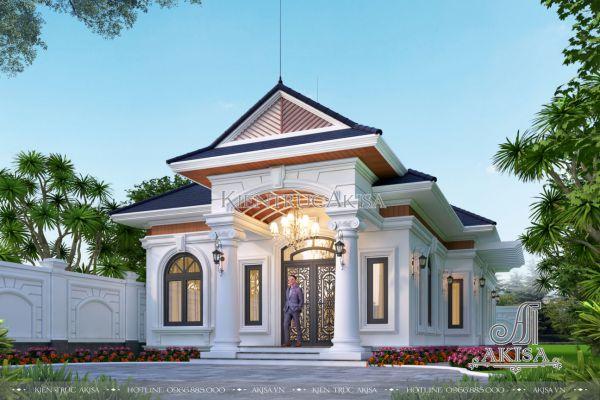 Thiết kế biệt thự mini 1 tầng tân cổ điển 3 phòng ngủ 10x23m (CĐT: ông Đỉnh - Đắk Lắk) BT12504