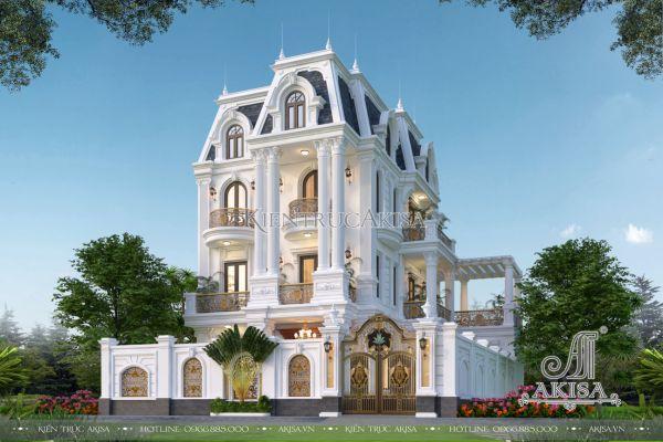 Mẫu biệt thự 3 tầng tân cổ điển kiến trúc Pháp (CĐT: bà Miền - Hà Nội) BT32505