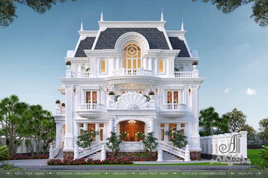 Biệt thự kiểu Pháp 3 tầng có vườn đẹp đẳng cấp (CĐT: ông Lâm - Đà Lạt) BT32508
