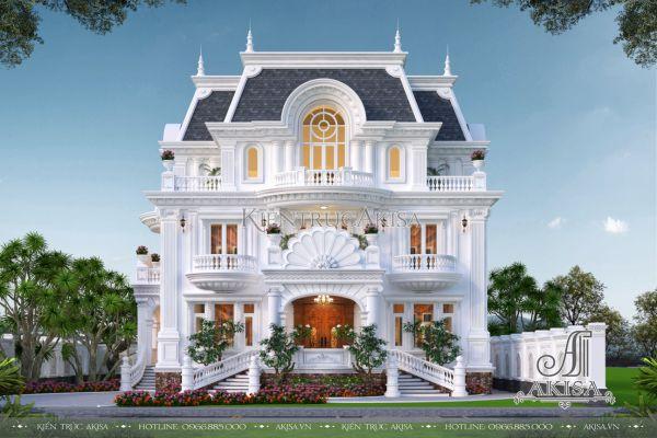 Biệt thự kiểu Pháp 3 tầng tân cổ điển (CĐT: ông Lâm - Đà Lạt) BT32508