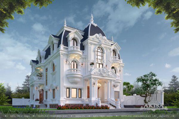 Mẫu thiết kế biệt thự châu Âu 3 tầng (CĐT: ông Bảng - Bình Định) BT32509