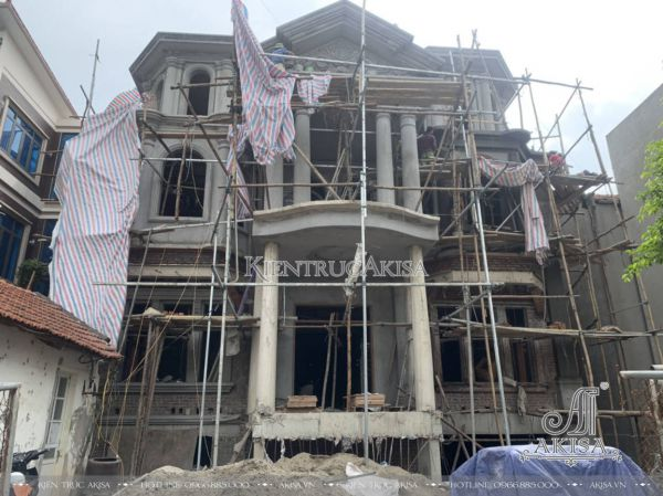 Cập nhật hình ảnh thi công biệt thự ông Nguyên - Vĩnh Phúc TC32477
