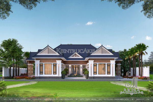 Nhà biệt thự 1 tầng đẹp hiện đại 6 phòng ngủ (CĐT: ông Đông - Ba Vì) BT11510