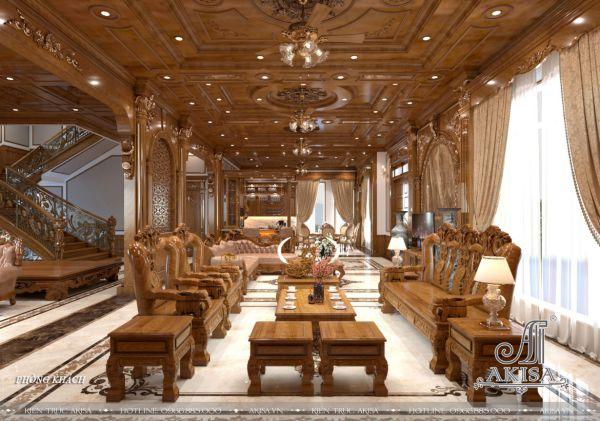 Thiết kế nội thất tân cổ điển gỗ đẳng cấp (CĐT: bà Dung - Bình Phước) NT12101