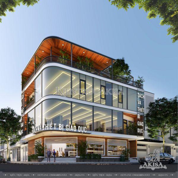 Thiết kế nhà sách văn phòng phẩm 2 mặt tiền (CĐT: bà Thu - Hà Nam) KT41511