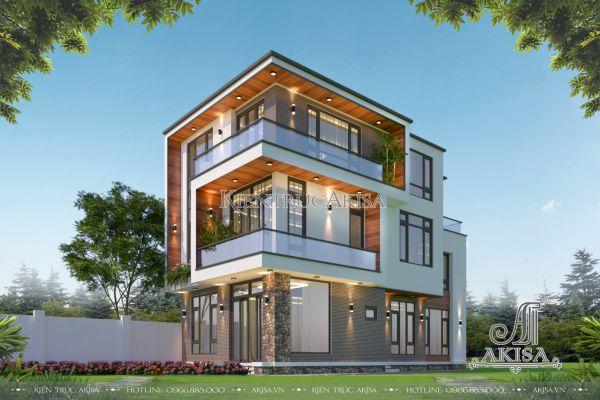 Mẫu biệt thự đẹp 3 tầng hiện đại (CĐT: ông Hạnh - Hoài Đức) BT31512
