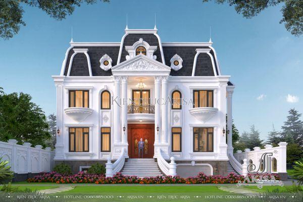 Thiết kế biệt thự 2 tầng kiến trúc châu Âu (CĐT: ông Tuấn - Hà Nội) BT22513