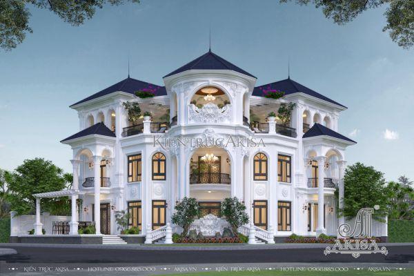 Biệt thự 3 tầng tân cổ điển 2 mặt tiền siêu đẹp (CĐT: ông Kỹ - Đà Nẵng) BT32515