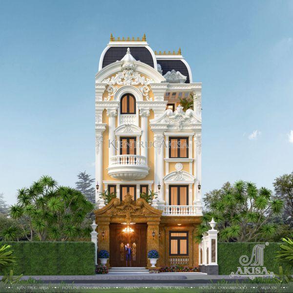 Thiết kế biệt thự kiểu Pháp mặt tiền 8m (CĐT: ông Chiến - Hà Nội) BT42516
