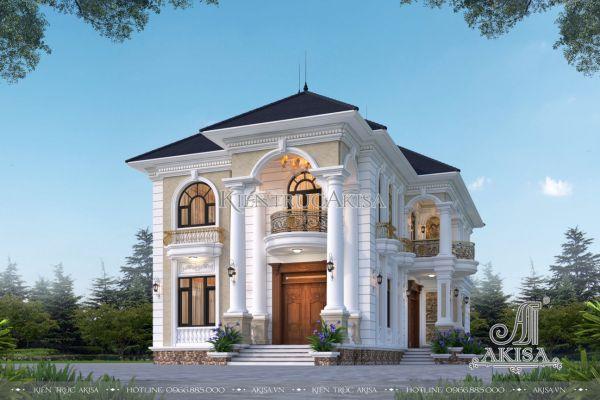 Biệt thự tân cổ điển 2 tầng 4 phòng ngủ (CĐT: ông Hưng - Bắc Giang) BT22517