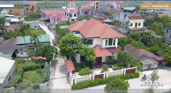 Hoàn thiện biệt thự hiện đại 2 tầng (CĐT: bà Thúy - Hưng Yên) TC21048