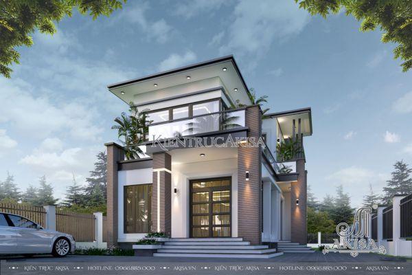 Mẫu nhà biệt thự đẹp 2 tầng hiện đại (CĐT: bà Uyên - Tiền Giang) BT21518