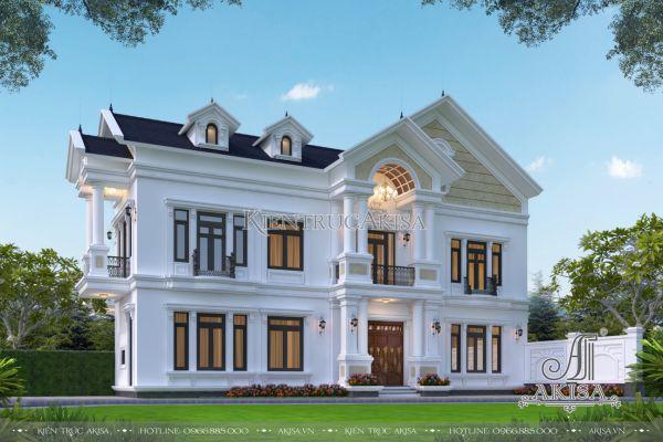 Biệt thự phố 2 tầng 3 phòng ngủ tân cổ điển mái Thái (CĐT: ông Sơn - Đồng Nai) KT22522