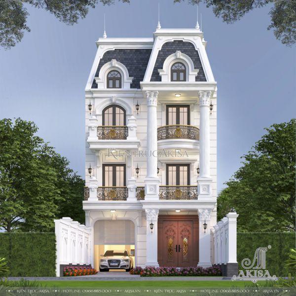 Biệt thự phố tân cổ điển 3 tầng mặt tiền 8m đẹp xao xuyến (CĐT: ông Ánh - Ninh Bình) BT32521
