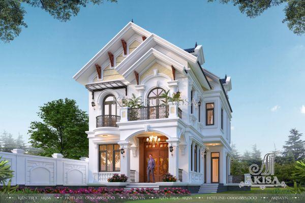 Thiết kế biệt thự 2 tầng phong cách Tân cổ điển châu Âu mái Thái (CĐT: ông Phong - Hải Dương) BT22524