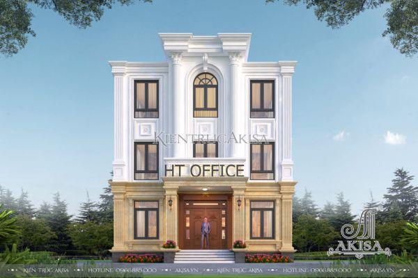 Thiết kế nhà ở kết hợp văn phòng 3 tầng mặt tiền 10m (CĐT: ông Hài - Hải Phòng) KT32525
