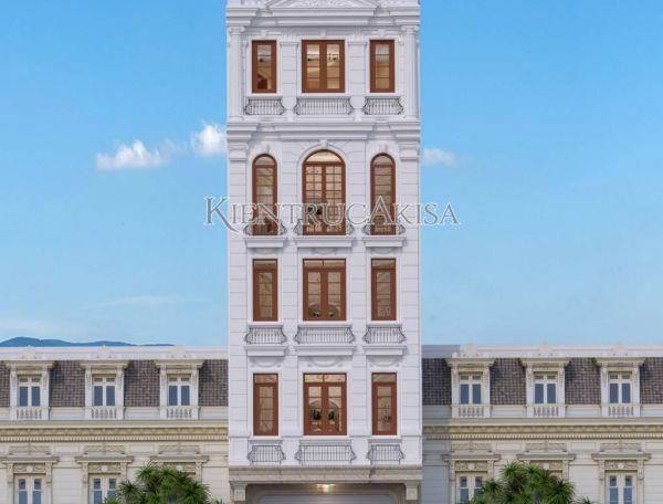 Mẫu nhà phố tân cổ điển 5x12m kết hợp kinh doanh KT82192