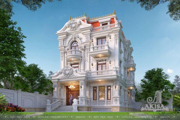 Biệt thự 3 tầng cổ điển kiểu Pháp (CĐT: ông Ngừng - Hồ Chí Minh) BT32534