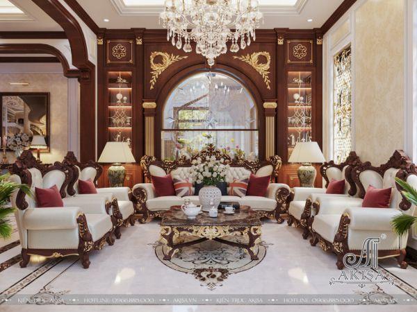 Mẫu nội thất tân cổ điển biệt thự đẹp 6 phòng ngủ (CĐT: ông Công - Hải Dương) NT22438