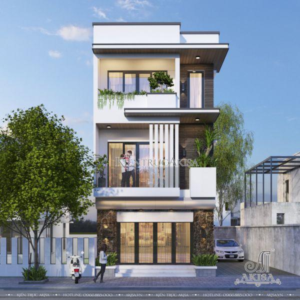 Thiết kế nhà hộp 3 tầng hiện đại đẹp 5x15m (CĐT: ông Tín - Ninh Thuận) KT31537