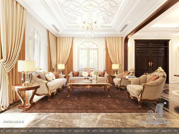 Mẫu nội thất đẹp phong cách tân cổ điển (CĐT: bà Luận - Lâm Đồng) NT22457