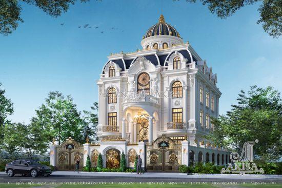 Thiết kế Biệt thự lâu đài tân cổ điển 3 (CĐT: ông Lộc - Yên Bái) BT32538