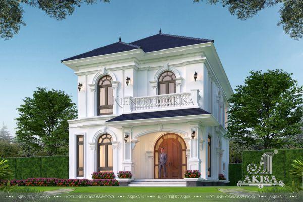 Ấn tượng với biệt thự tân cổ điển mái Nhật 2 tầng (CĐT: ông Tuấn - Bắc Ninh) BT22532
