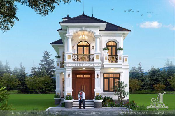 Biệt thự mini 2 tầng tân cổ điển mái Nhật mặt tiền 7m (CĐT: ông Phong - Bình Dương) BT22533