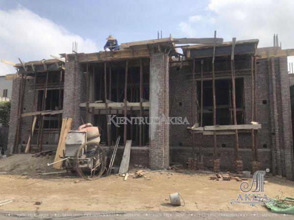 Hình ảnh tiến độ thi công biệt thự 2 tầng (CĐT: ông Công - Hải Dương) TC22438