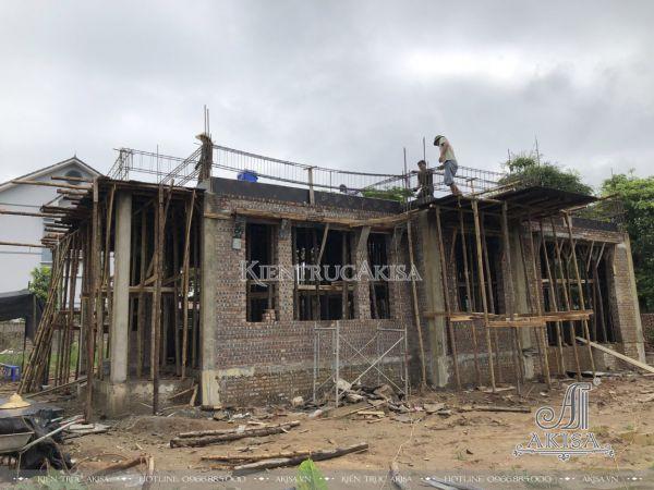 Hình ảnh thi công biệt thự 3 tầng tại Hưng Yên (CĐT: ông Toản - Mỹ Hào) TC32435