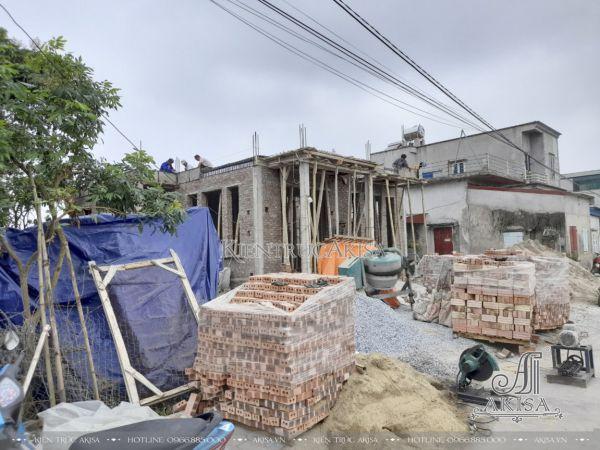 Giám sát thi công biệt thự tân cổ điển 2 tầng (CĐT: bà Yến - Nam Định) TC22542
