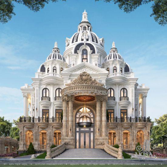 Mẫu biệt thự lâu đài 4 tầng cổ điển đẹp (CĐT: ông Duy Anh - Quảng Bình) BT43546