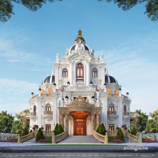 Thiết kế biệt thự lâu đài 4 tầng tân cổ điển Pháp (CĐT: ông Thành -  Khánh Hòa) BT42550