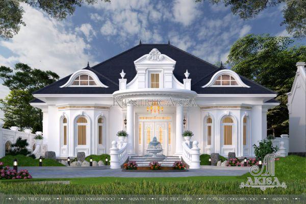 Mẫu biệt thự 1 tầng tân cổ điển nhà vườn đẹp tinh tế (CĐT: ông Giang - Thanh Hóa) BT12558