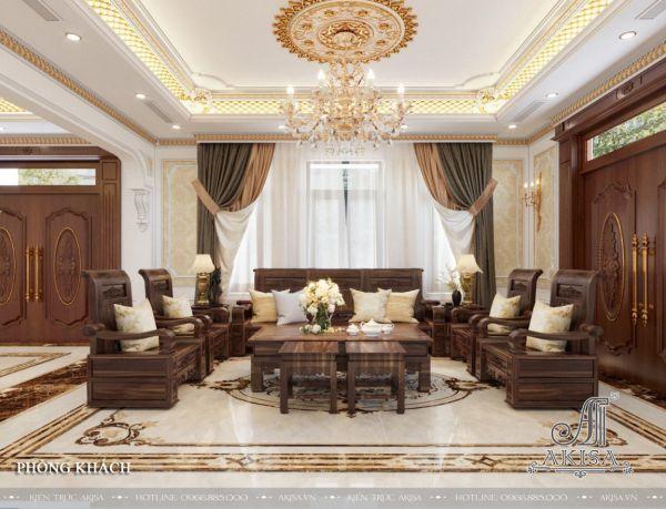 Sang trọng cùng nội thất biệt thự tân cổ điển 4 phòng ngủ (CĐT: ông Hưng - Bắc Giang) NT22517