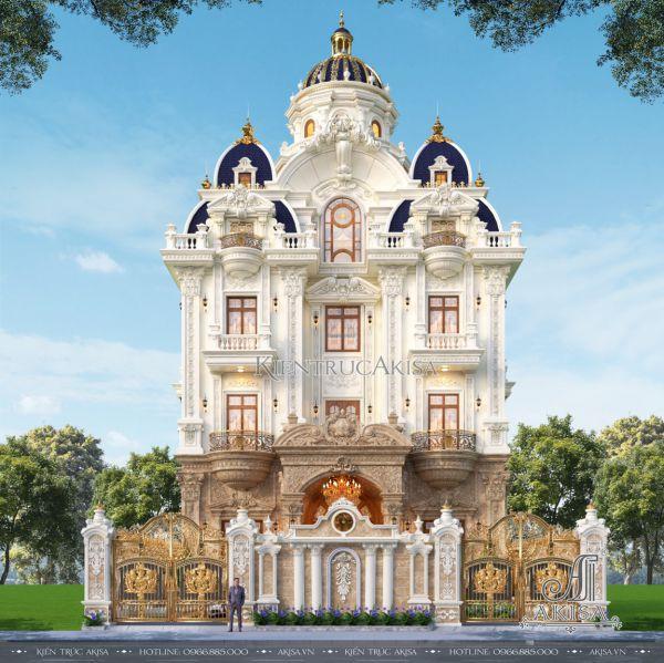 Tuyệt tác mẫu biệt thự lâu đài cổ điển 5 tầng đẹp đẳng cấp (CĐt: ông Đức - Bình Thuận) BT53561
