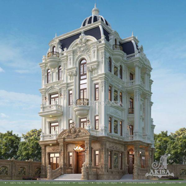 Đẳng cấp biệt thự 5 tầng cổ điển kiểu Pháp (CĐT: ông Tuấn - Bình Dương) BT53562