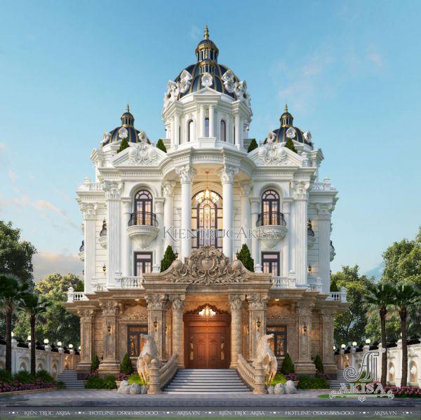 Mẫu biệt thự lâu đài 3 tầng cổ điển Pháp (CĐT: ông Phương - Bạc Liêu) BT33563